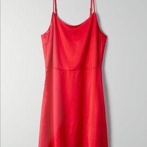 Red Silk Isabelle Dress